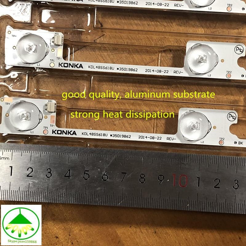 100pcs/Lot Original novo LED backlight tira bar para KDL48JT618A KDL48JT618U KDL48SS618U 35018539 35018540 6 LEDS (6 v) 442mm
