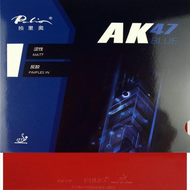 Palio AK 47 AK47 AK-47 BLUE Matt Pips in Rubber With Sponge PingPong Rubber for Table Tennis Racket 2.2mm H38-40