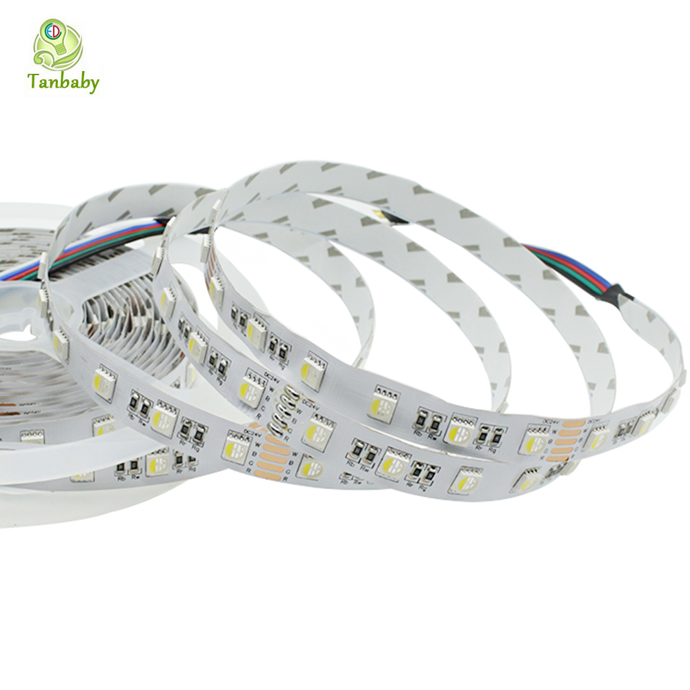 Tanbaby 4 in 1 RGBW 5050 LED Strip Light DC24V Flexible LED Tape Light RGB+White / RGB+Warm White Non-waterproof  Indoor Decora 59 1 2in x32 1 4in x86in standard fit shower kit in white acrylic base silver hamrd door left drain decora provantage