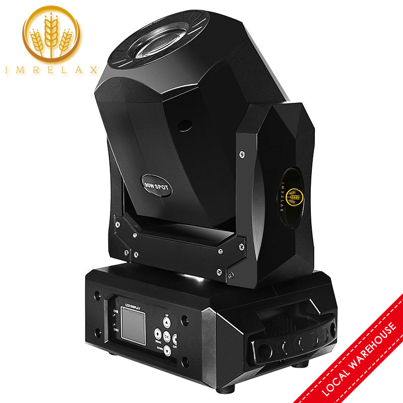IMRELAX New 90W LED Spot Moving Head Light Fast Silent 3 Facet Prism Clear Rotating GOBO