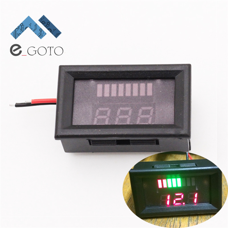 buy 12v acid lead battery indicator battery capacity led tester voltmeter. Black Bedroom Furniture Sets. Home Design Ideas