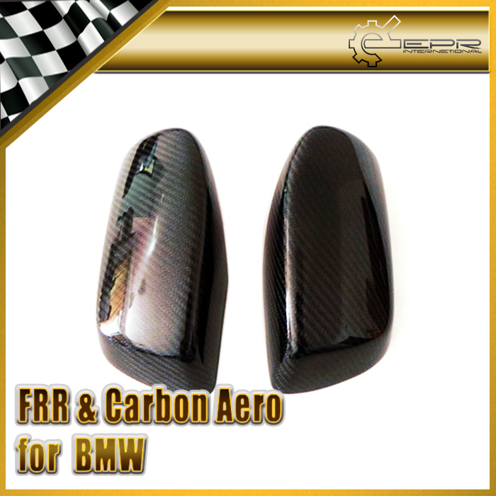 Car Styling For BMW 2004-2010 E60 Real Carbon Fiber Mirror Cover car styling for bmw m real carbon fiber handbrake cover fitting kit e87 e90 e92 e60 e63 e64 m5 m3 m tec