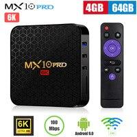 MX10 Pro Smart TV Box Android 9.0 Allwinner H6 Quad Core 4GB 32GB 64GB 2.4G WiFi USB3.0 Support 6K*4K H.265 Set Top Box