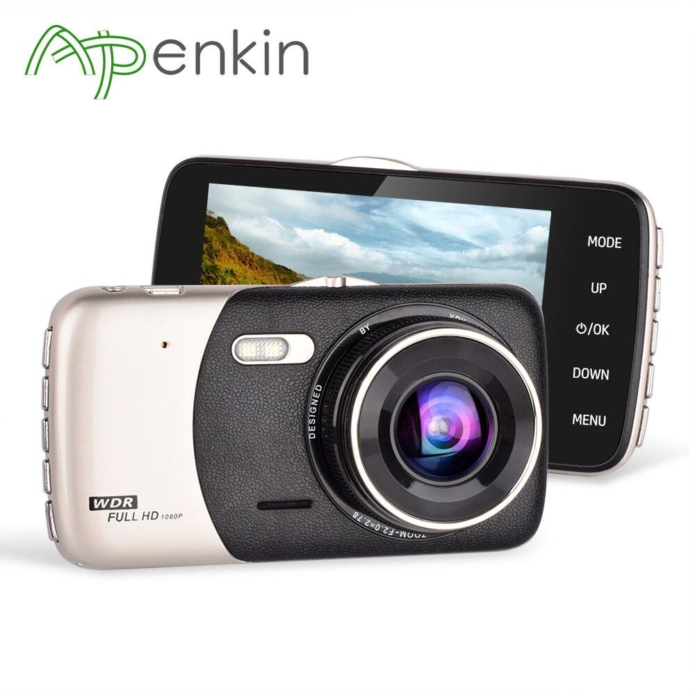 Arpenkin Car Camera Dual Lens 4.0 inch IPS Screen Car DVR Full HD 1080P Video 170 Degree Wide Angle Rear View G-sensor Dash Cam