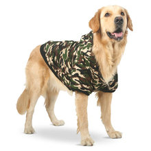 Winter Dog Clothes Large Size Dogs Camouflage Coat Autumn Golden Retriever Dog Camo Clothes Labrador Honden Jas Pet Shop 50WY025 pet shop blowing machine high power mute dog supplies hair dryer home golden retriever large dog dedicated blowing machine