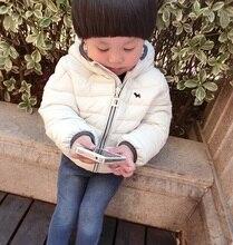 Зимние мальчики/девочки дети моды конфеты цвет хлопка-ватник маленький ребенок вниз пальто