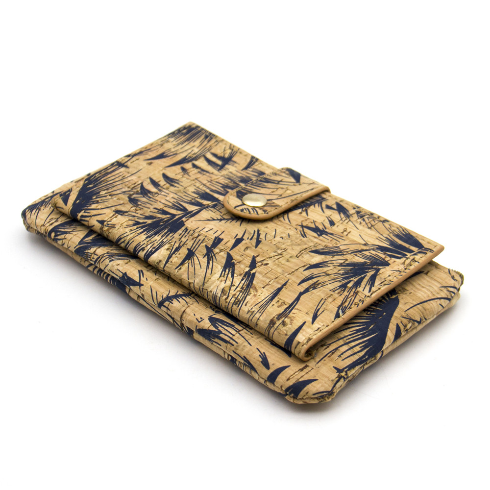 Naturkork plånbok med fjädertryck kvinna vegan plånbok - Plånböcker - Foto 5