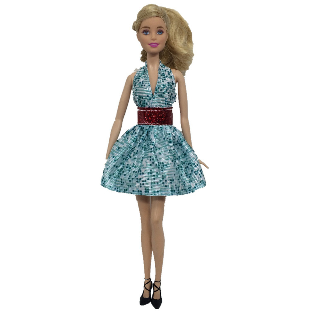 NK 2018 Newest Doll Dress Beautiful Handmade Party ClothesTop Fashion Dress For Barbie Noble Doll Best Child Girls'Gift 085H