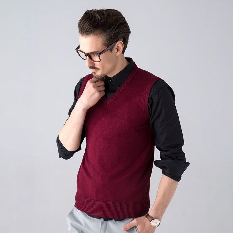 TIGER CASTLE Men Ärmlös Tröja Väst Klassisk Slim Business Man - Herrkläder - Foto 2