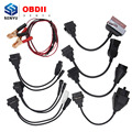 Full set cables for cars 8pcs For TCS CDP OBD OBD2 OBDII Adapter Converter Cable Full Set For TCSCDP Pro Car Diagnostic Tool