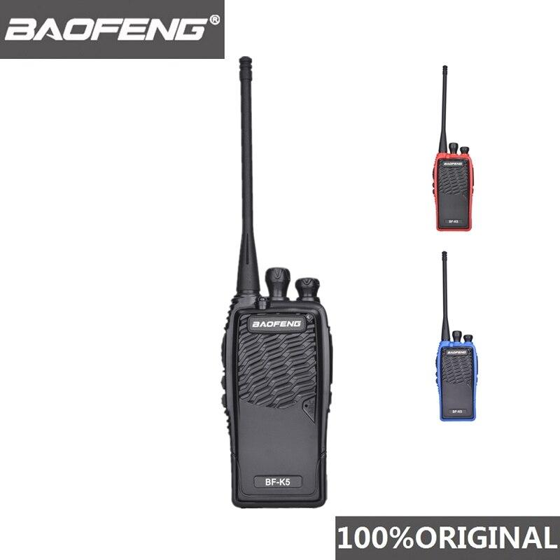 100% Original Baofeng Walkie Talkie BF K5 Amateur Radio Portable Two Way Radio Pofung K5 Woki Toki Wireless Fm Hm Transceiver-in Walkie Talkie from Cellphones & Telecommunications