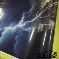 ORINO Car Wraps Lightning Vinyl Sticker Bomb Car Wrap Camo Car Vinyl Truck Graphics Car Wrapping Camouflage Film Sheet