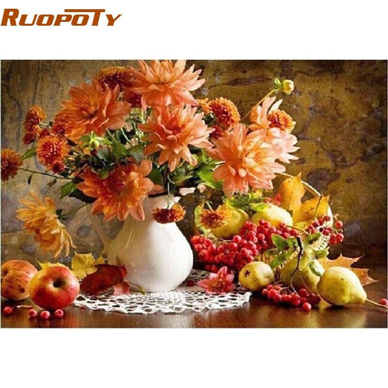 Цветочно-фруктовый натюрморт