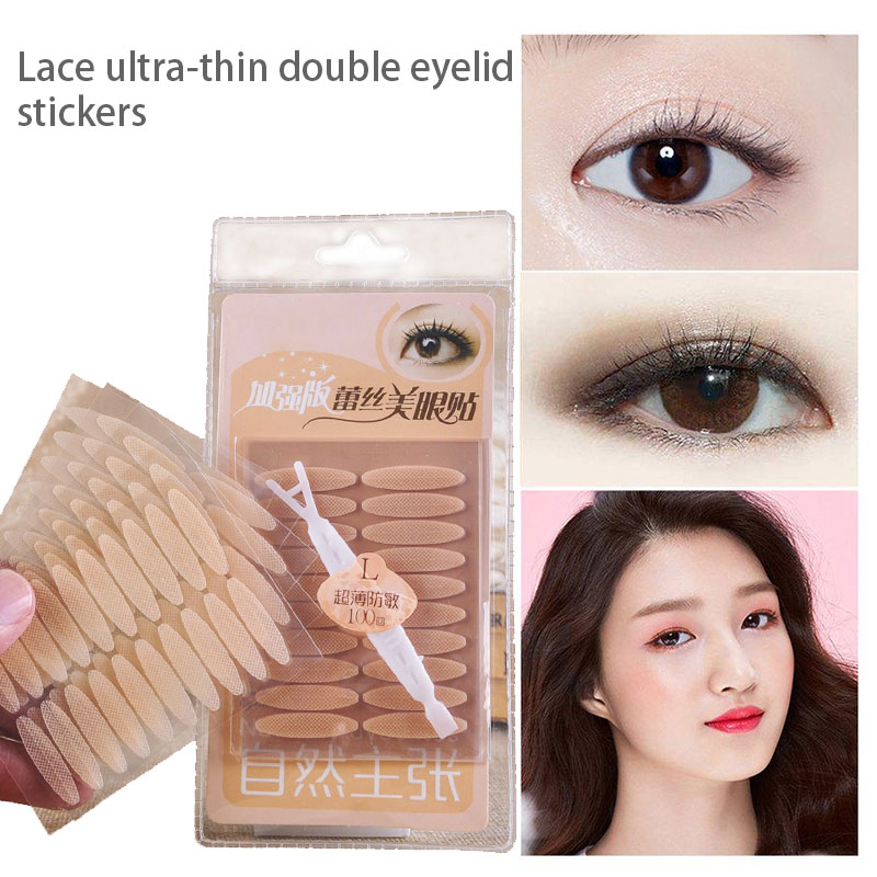 Double Eyelid Patch Convenient Effective Ultra-Thin Lace Narrow Wide Eyelid Tool Mesh Double Eyelid Stickers Drop Shipping