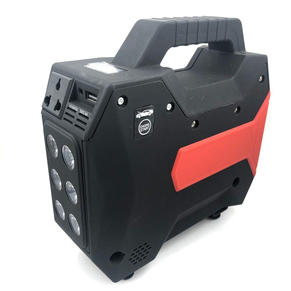 Multifonction voiture saut démarreur Booster batterie externe compresseur d'air pompe gonfleur DC 12 V à 220 V AC convertisseur inverseur Ports USB