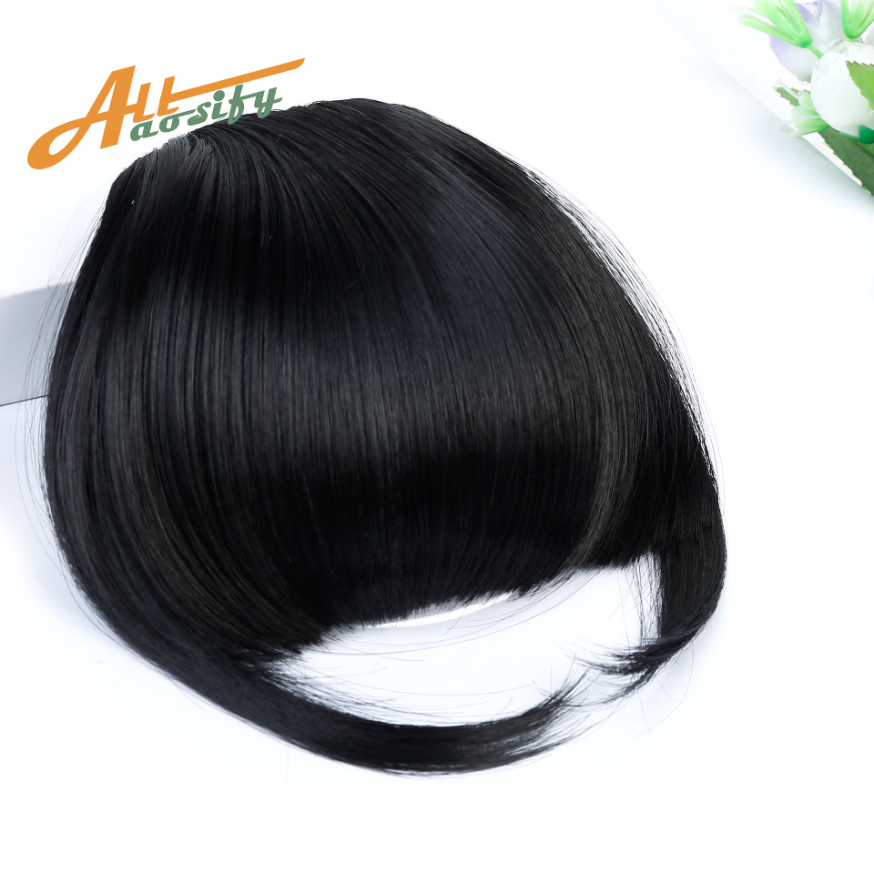 8 colors Natural Bang Flase Hair Black Brown Blonde Clip In s