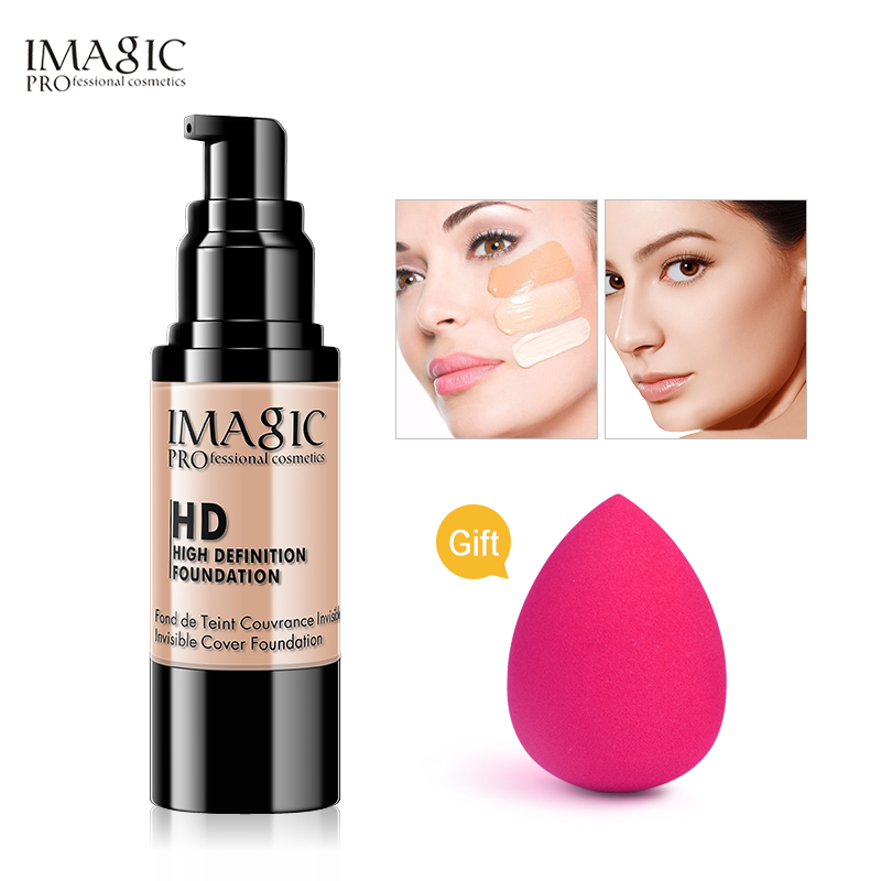IMAGIC Professional Whitening Moisturizing HD Liquid Foundation Concealer Highlight Shadow Makeup Cosmetic консилер nyx professional makeup hd concealer wand 12 цвет 12 green variant hex name 94d6c8