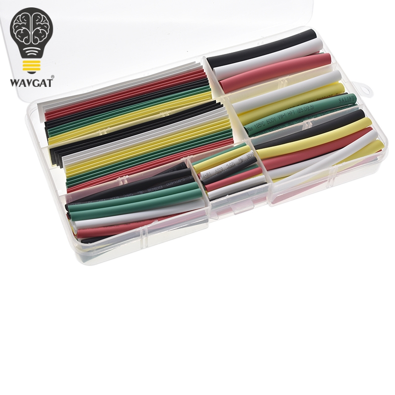 DiscountWAVGAT Wire-Cable-Kit Sleeving-Wrap Heat-Shrinkable-Tube Tubing 10mm 5mm 4mm 3mm 2mmµ