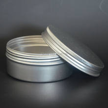 250g/mlRefillable Frasco Cosmético Creme Pomada Embalagem Amostra Frascos de Recipientes com Tampa de Rosca De Alumínio Vazia