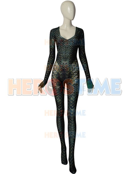 Quinn Mera Cosplay Costume Queen Mera Aquaman Justice League Movie Version 3D Printed Zentai Halloween Party
