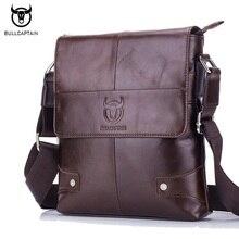 BULLCAPTAIN New Arrival 100% Genuine Leather Men's Bag Fashion Vintage Men Shoulder Crossbody Bags High Quality Messenger Bag