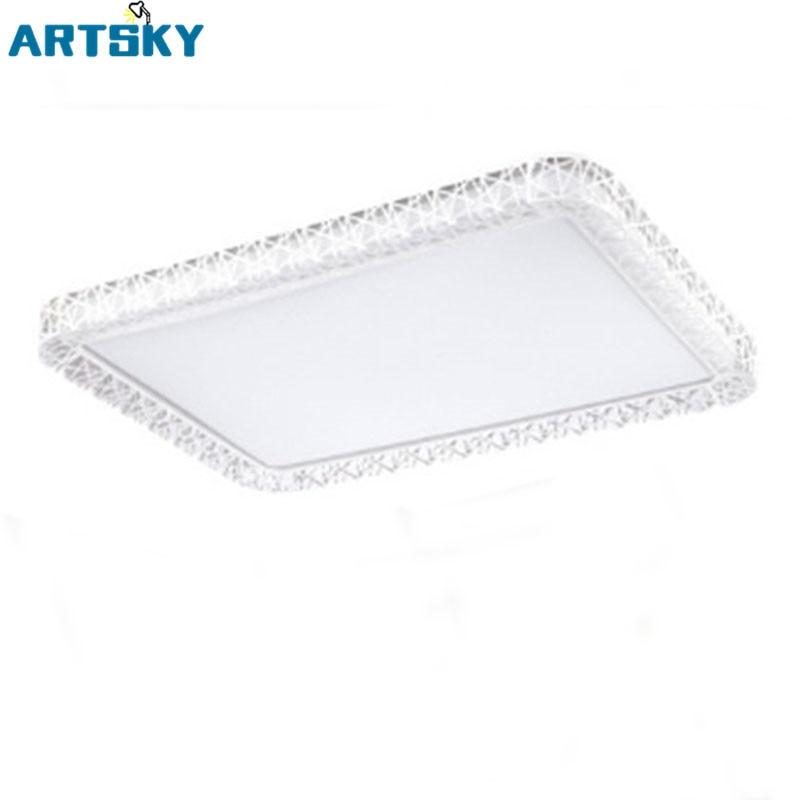 simple modern rectangular white pmma high lamp shade led ceiling lighting for living room - Rectangular Lamp Shades