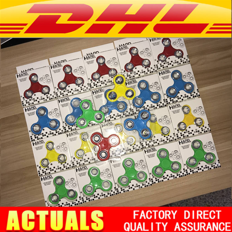 200pcs/lot  Factory Direct  Fidget Tri-Spinner Toys Sensory Fidgets Autism ADHD Hand Spinner Funny gifts Metal  EDC Retail Box 3 colors hot sale product hand spinner voor stainless steel fidget spinner for autisme and adhd anti stress adhd hand spinner