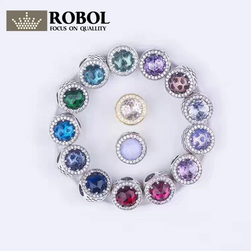 ROBOL New Fashion Luxurious 925 Sterling Silver Tree of Life Necklaces & Pendants Top Quality Jewelry Gift Free Package Mail