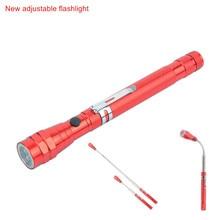 Portabl LED Flashlight 3 LED Adjustable multi-function car repair flashlight Magnetic telescopic antenna light