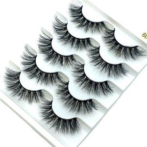 Image 5 - Nieuwe 5/9/10 Pairs Mink Wimpers 3D Valse Wimpers Dikke Kriskras Make Wimper Extension Natuurlijke Volume Soft Fake Eye wimpers