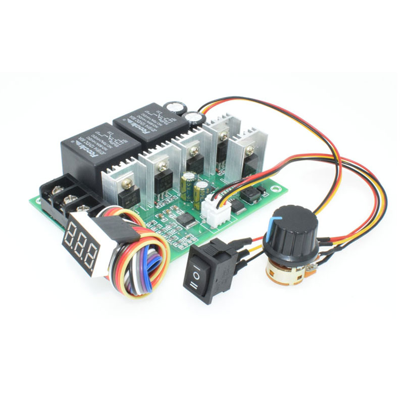 Sincere 1pcs Dc Brush Motor Speed Controller 20a 9-60v Control Forward Reverse Switch Attractive Fashion Electrical Equipments & Supplies Motors & Parts
