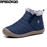 Green Short Booties Ankle Snow Fur Casual Comfortable Winter Shoes Faux 2017 Mens Boots Warm Male