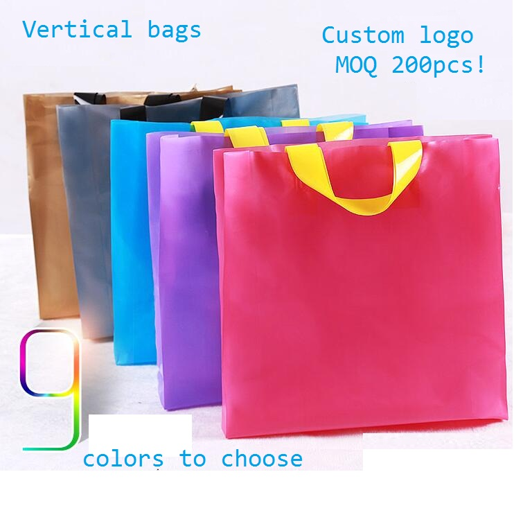 3 size Personalized plastic gift bag with printing logo Boutique ...