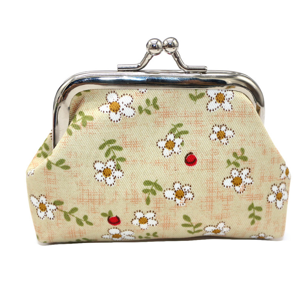 High Quality Cheap Coin Purse Women Girls Printing Flower Snacks Coin Purse Wallet Bag Change Pouch Key Holder monederos para S# deha