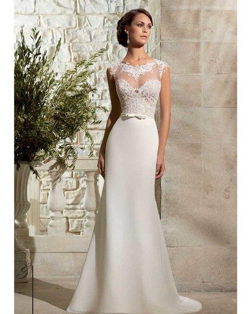 Extremamente Vestido De Noiva Sereia 2017 Simple Boho Wedding Dress Sexy Lace  KZ28