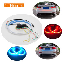 LED 12v 120cm Modified Car Turn Signal Brake Light Running Light Flowing Rear Strip Light