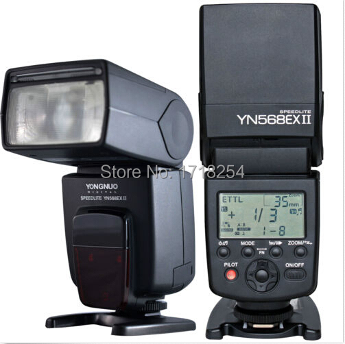 YONGNUO YN-568EX II Wireless Flash Speedlite for Canon 1Dx 1Ds 1D 5DIII 5DII 5D 7D2 700D 650D 600D 6D yongnuo 3x yn 600ex rt ii 2 4g wireless hss 1 8000s master flash speedlite yn e3 rt flash trigger for canon eos camera 5d 6d