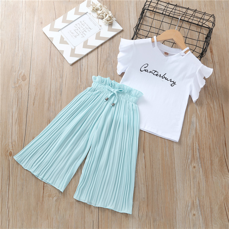 HTB19JOCc8OD3KVjSZFFq6An9pXaS - Summer Baby Girls Clothes Sets Outfits Kids Clothes Short Sleeve +Pants Children Clothing Set 3 4 5 6 7 8 9 10 11 12 Years