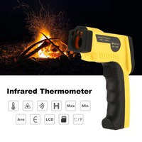 Thermometer HoldPeak HP 1300 Digital LCD Handheld Infrared Temperature Meter Tester Red Laser Non Contact IR Pyrometer Gun