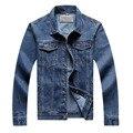 Новое прибытие осень и весна мужская винтаж мытый подкладки случайные джинсовые куртки классический плюс размер 8XL джинсовая куртка