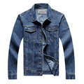 new arrival autumn and spring men's vintage washed unlined casual denim jackets classical plus size 8XL jeans jacket