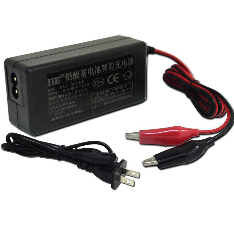 Зарядное устройство 6 в для ЕС/США, в пост. Тока, 2 А, свинцово-Кислотное зарядное устройство, адаптер для зарядки, умное зарядное устройство д...