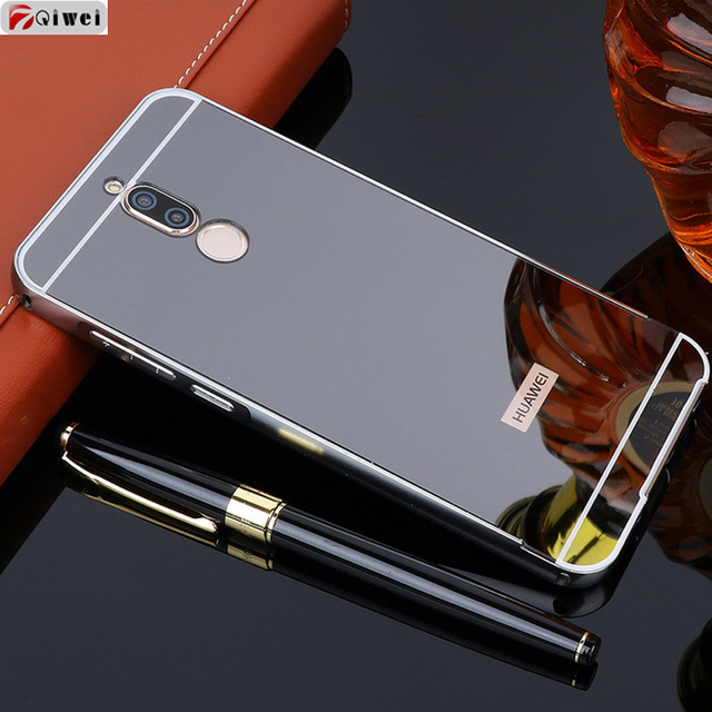 cheap for discount ec706 7deb2 US $3.75 20% OFF|For Funda Huawei Nova 2i Case Hard Aluminum Metal Frame  Bumper Acrylic Back Mirror Case For Huawei mate 10 lite Case Cover Coque-in  ...