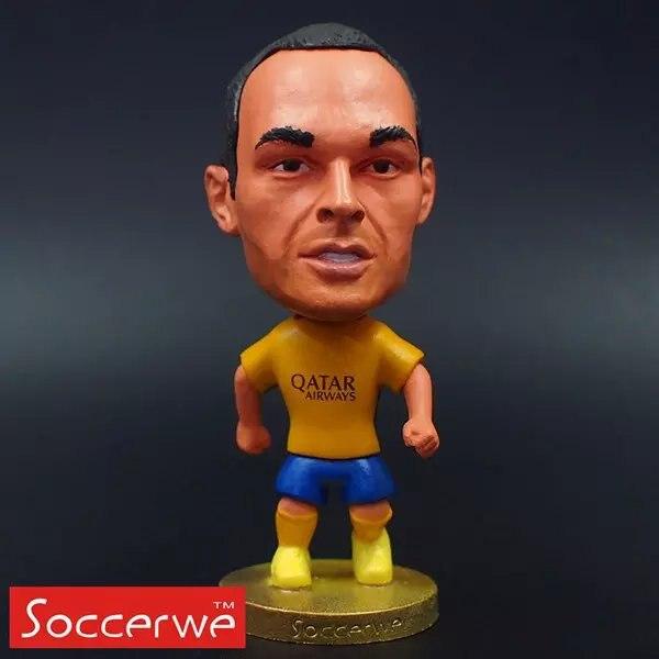 Football star Soccer Star 8# INIESTA (B-Yellow-2016) 2.5 Action Dolls Figurine