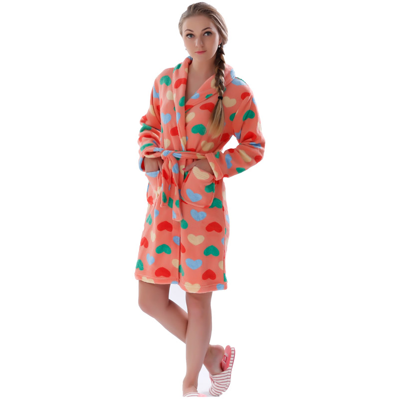 a0768f479d Women Robes Coral Fleece Bathrobes Female Kimono Robes Home Clothing Sleepwear  Warm Nightgowns Dressing Gowns Robes For Women-in Robes from Underwear ...