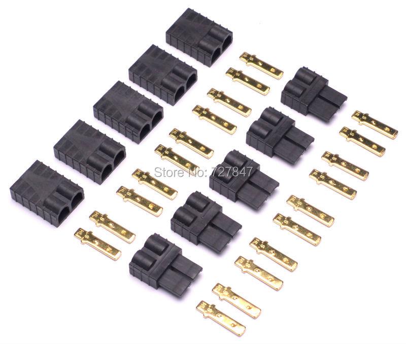 5pair/ 10pair Traxxas/TRX Plugs Lipo/NiMh Brushless ESC Battery RC Connector 1s 2s 3s 4s 5s 6s 7s 8s lipo battery balance connector for rc model battery esc