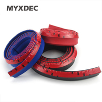 2 5M Roll New 2015 5CM Width TPVC Lip Skirt Protector Car Scratch Resistant Rubber Bumpers