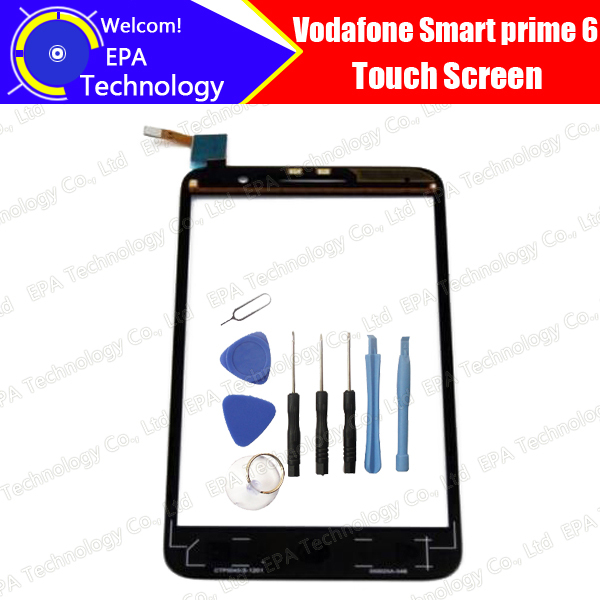100% Первоначально для Vodafone Smart prime 6 VF-895N VF895N 895 895N Сенсорным Экраном Дигитайзер Стеклянная Панель + Инструменты