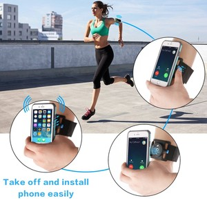 Image 5 - 3.5 6.5 אינץ מהיר שחרור ריצה תיק טלפון מחזיק גברים נשים Armband/צמיד חגורת ריצה רכיבה על אופניים זרוע כושר להקת תיק עבור iPhone