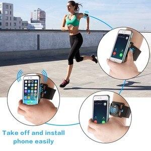 Image 5 - 3.5 6.5Inch Quick Release Running Tas Telefoon Houder Mannen Vrouwen Armband/Polsband Running Riem Fietsen Gym Arm band Tas Voor Iphone